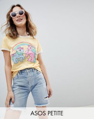 Image 1 of ASOS PETITE T-Shirt With My Little Pony Print And Contrast Binding