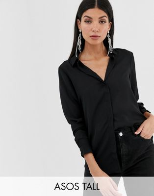 ASOS PETITE – Tall – Weiches Hemd