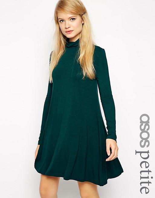 ebe2fc3acb33 ASOS PETITE Turtleneck Swing Dress