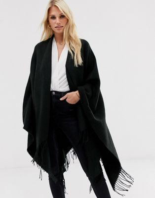 ASOS Plain Cape In Black