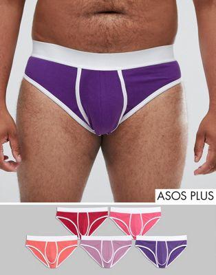 ASOS PLUS - Set van 5onderbroeken in roze en paars