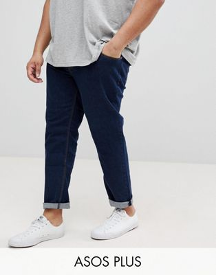 ASOS PLUS Slim Jeans In Indigo