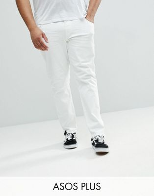 ASOS PLUS Slim Jeans In White