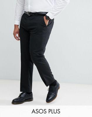 ASOS PLUS Slim Suit Pants In Black