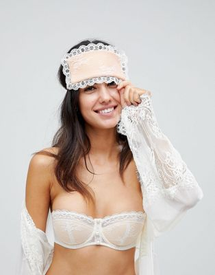 ASOS PREMIUM BRIDAL Pearl & Lace Eye Mask
