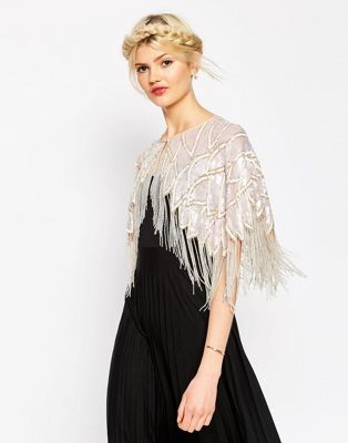 ASOS Pretty Iridescent Embellished Cape