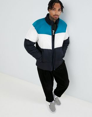 ASOS Puffer Jacket In Colour Block