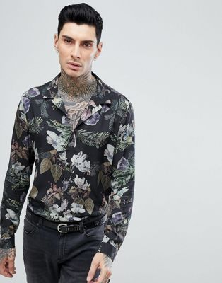 ASOS Regular Fit Viscose Floral Shirt