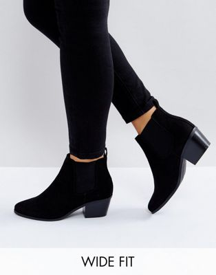 ASOS REVIVE Wide Fit Chelsea Ankle Boots