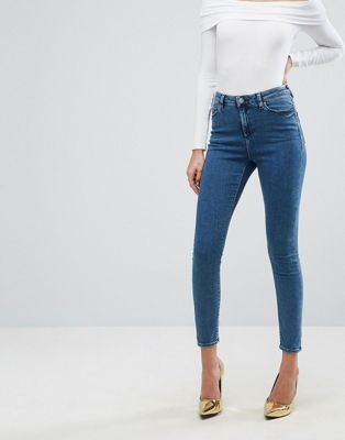 ASOS RIDLEY Skinny Jeans In Lanie London Blue Wash