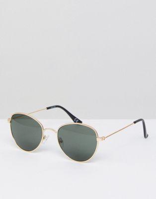 ASOS - Ronde bril met goud metalen montuur en getinte glazen