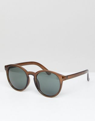 ASOS Round Sunglasses With Fine Frame