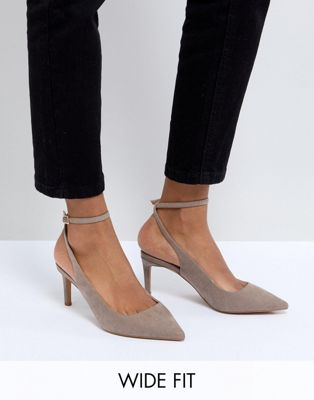 ASOS SABRINA Wide Fit Mid Heels