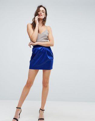 Image 1 of ASOS satin tulip mini skirt