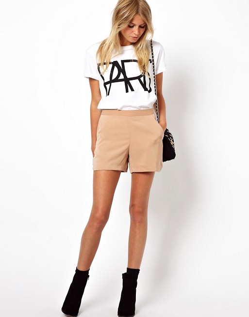 ASOS Shorts with High Waist Detail