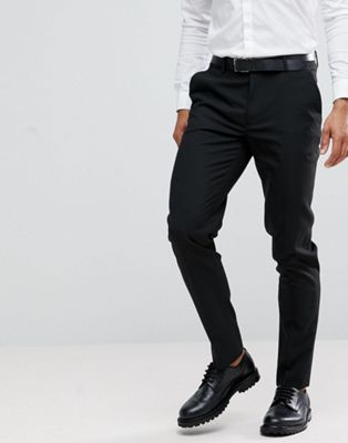 ASOS Skinny Smart Trousers in Black