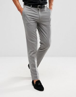 ASOS Skinny Smart Trousers In Grey