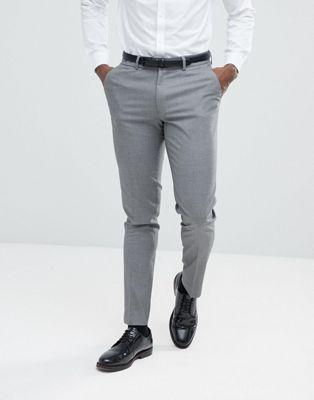 ASOS Skinny Suit Pants In Mid Grey