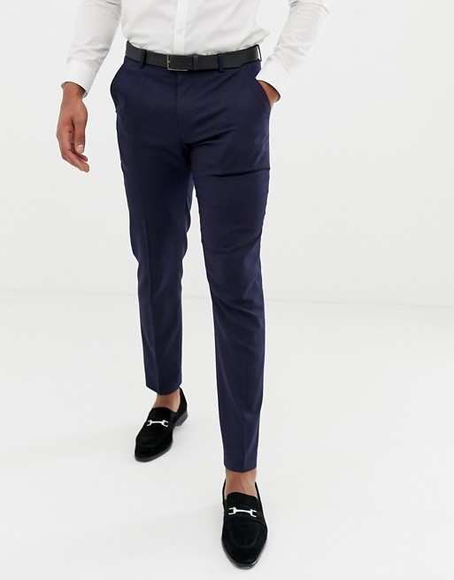 ASOS Skinny Tuxedo Suit Trousers In Navy
