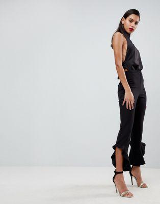 ASOS – Skräddarsydda smala byxor med lätt utsvängda ben
