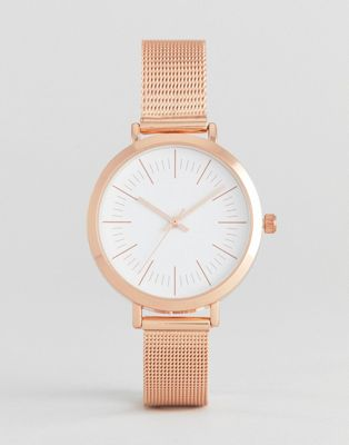 ASOS Sleek Rose Gold Mesh Watch