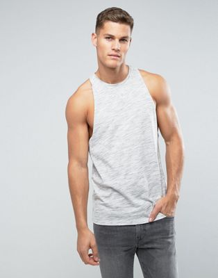 ASOS Sleeveless T-Shirt In Inject Fabric With Racer Back