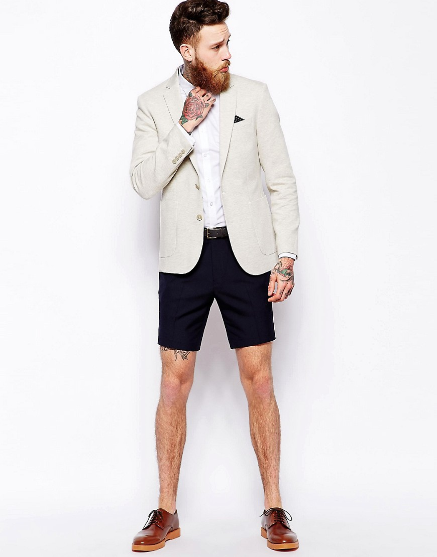 Asos Slim Fit Blazer In Jersey by Asos