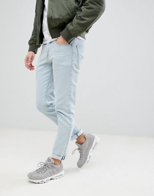 ASOS Slim Jeans In Flat Light Wash