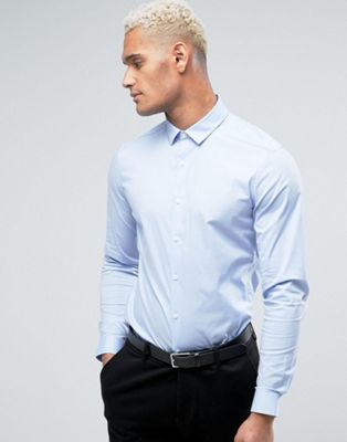 ASOS Slim Shirt In Blue