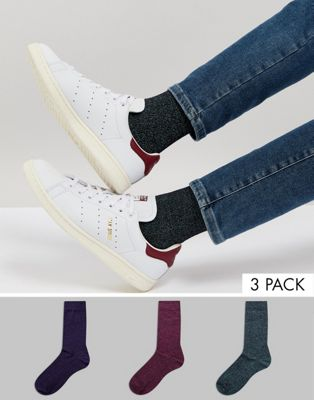 ASOS Socks In Twisted Yarns 3 Pack