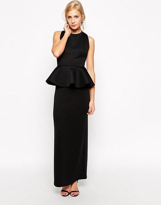 5319a1774b black peplum maxi dress – Little Black Dress