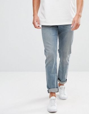 ASOS Stretch Slim Jeans In Smokey Mid Blue