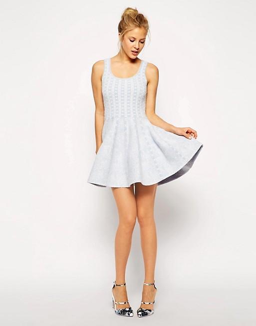 1c0636bfb ASOS Structured Skater Dress In Jacquard Knit | ASOS