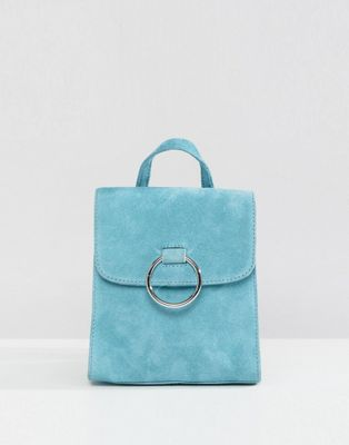 ASOS Suede Mini Backpack With Ring