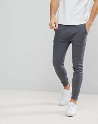 ASOS Super Skinny Joggers In Washed Grey
