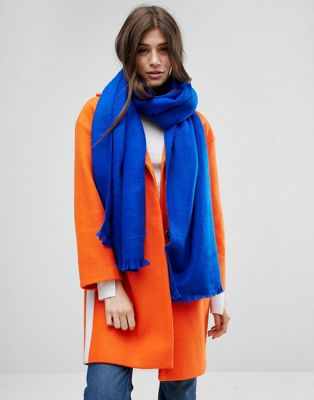 Image 1 of ASOS Supersoft Long Woven Scarf In Bright Blue