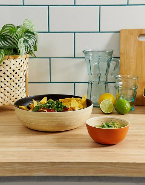 ASOS SUPPLY chip & dip bamboo bowls