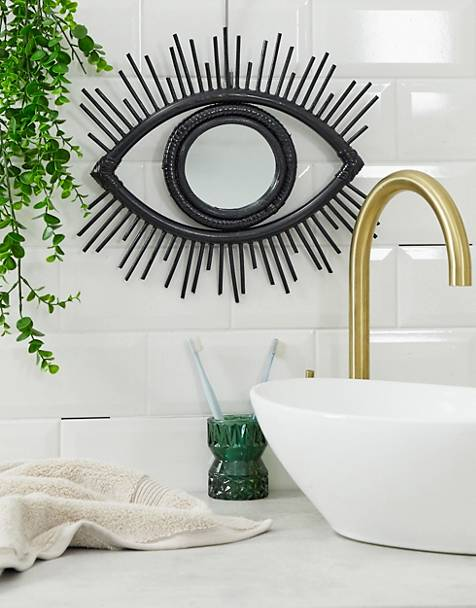 ASOS SUPPLY eye mirror in black