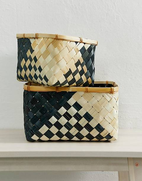 ASOS SUPPLY - Lot de 2 paniers de rangement motif zigzag