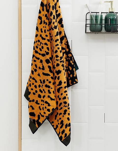 ASOS SUPPLY - Serviette de bain tissée à imprimé animal