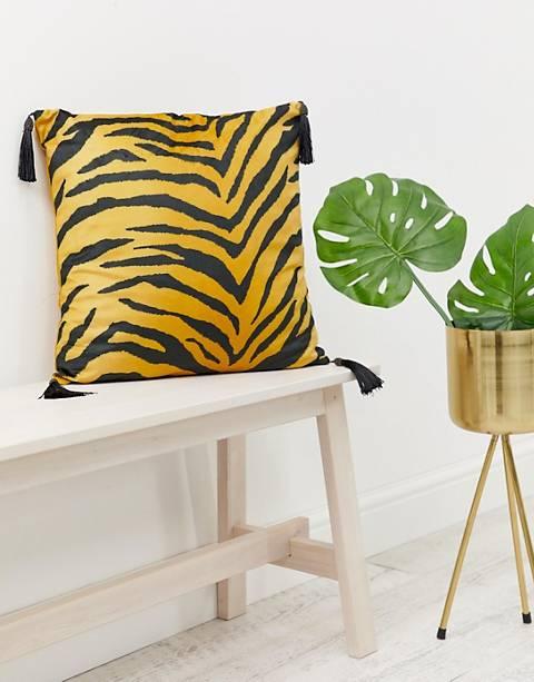 ASOS SUPPLY velvet tiger cushion cover