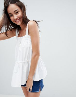ASOS Swing Cami with Ruffle in Cotton