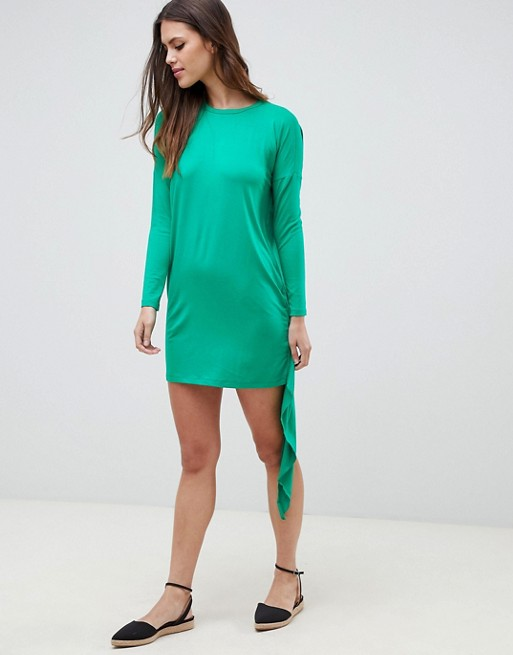 Image 1 of ASOS T-Shirt Dress With Cape Back