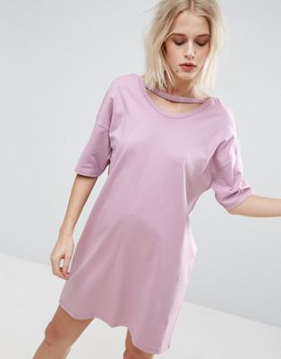 ASOS T-Shirt Dress with Open Neck Detail