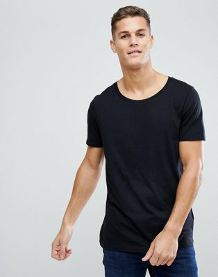 ASOS - T-shirt long coupe à encolure dégagée