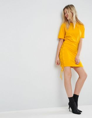 ASOS T-Shirt Mini Dress with Lace Up Sides