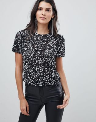 ASOS T-Shirt With Sequin Embellishment