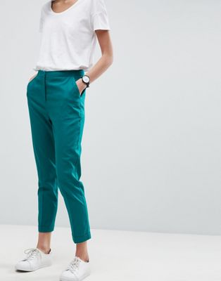 ASOS Tailored Linen Cigarette Trousers