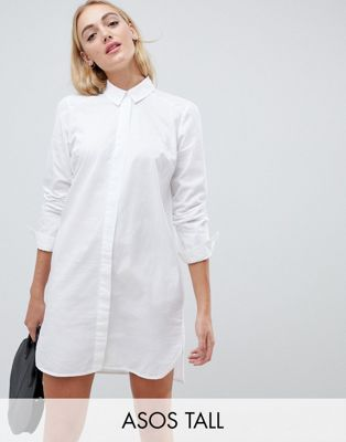 ASOS TALL Cotton Mini Shirt Dress
