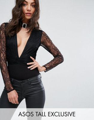 ASOS TALL EXCLUSIVE Lace Body With Embellished Choker Trim